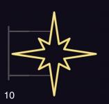 HVĚZDICE STANDARD 85x85 žlutá
