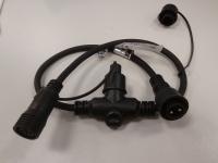 Rozbočovací T kabel MAXILEB černý