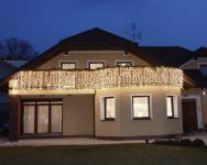 Světelný závěs MAXILEB-LED 2x1,5m - studená bílá