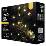 LED vánoční řetěz, 24m, teplá bílá, časovač