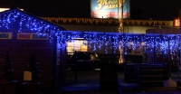 """MAXI-LED """"ICICLE"""" + FLASH efekt -  modrá + bílá  4x0,5m"""