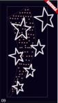 Hvězdný prach - studená bílá/teplá bílá 1,30x2,50m
