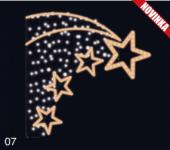 Letící hvězdy - teplá bílá/studená bílá 1,30x1,30m