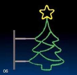 STROMEK S HVĚZDOU 24W LED zelená/žlutá 104 x 60