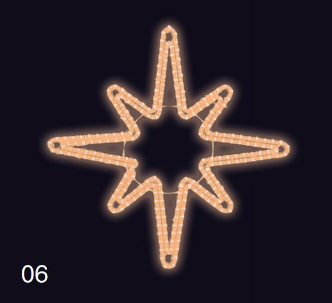 Hvězdice 80x80cm teplá bílá