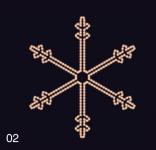 SNĚHOVÁ VLOČKA 75x75 teplá bílá