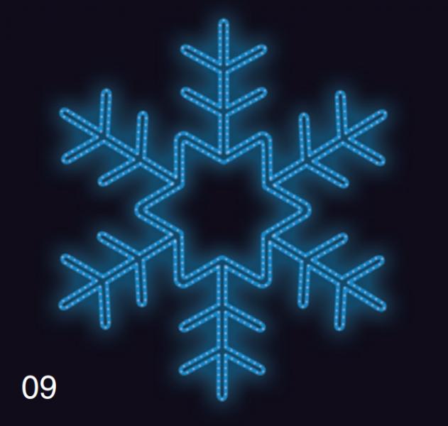 VLOČKA KRYSTAL 75x75 modrá