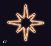 HVĚZDICE 1,2x1,2m teplá bílá
