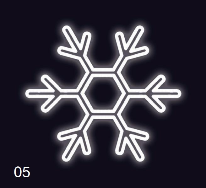 VLOČKA KLASIK 1,2x1,2m studená bílá