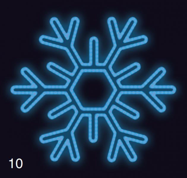VLOČKA ŠESTIRAMENNÁ 1,2x1,2  modrá