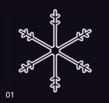 SNĚHOVÁ VLOČKA 1,15x1,05m studená bílá
