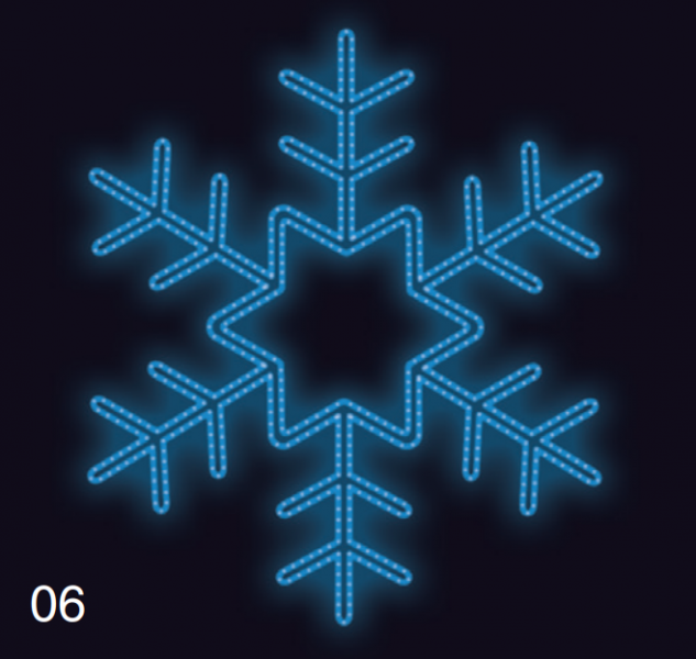 VLOČKA KRYSTAL 1,2x1,2m modrá