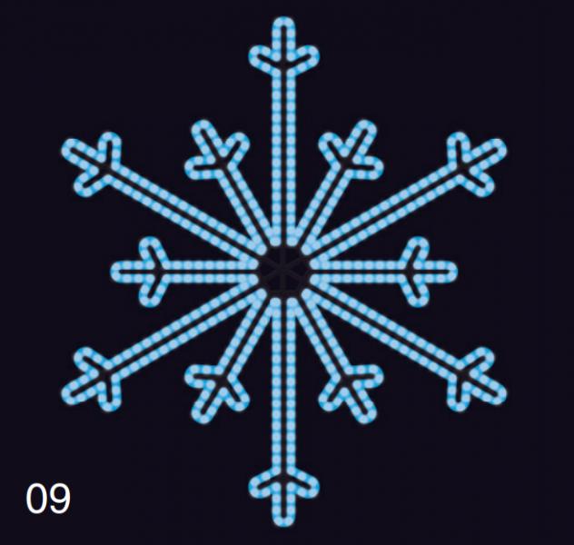 SEVERNÍ VLOČKA 1,2x1,2m modrá